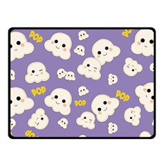 Cute Kawaii Popcorn Pattern Fleece Blanket (small) by Valentinaart