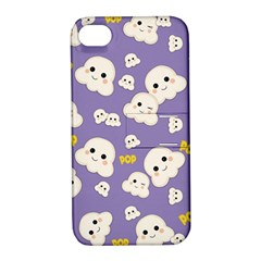 Cute Kawaii Popcorn Pattern Apple Iphone 4/4s Hardshell Case With Stand