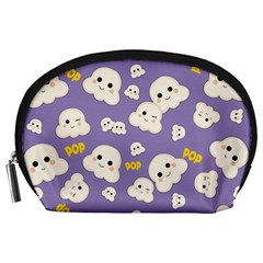 Cute Kawaii Popcorn Pattern Accessory Pouch (large) by Valentinaart