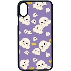 Cute Kawaii Popcorn Pattern Apple Iphone X Seamless Case (black)