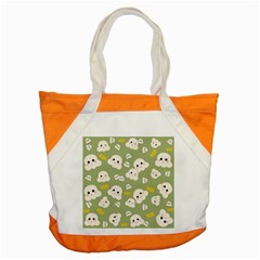 Cute Kawaii Popcorn Pattern Accent Tote Bag by Valentinaart