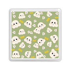 Cute Kawaii Popcorn Pattern Memory Card Reader (square) by Valentinaart