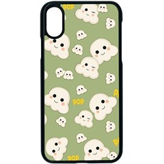 Cute Kawaii Popcorn Pattern Apple Iphone X Seamless Case (black) by Valentinaart