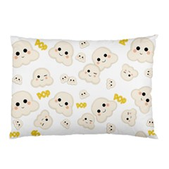 Cute Kawaii Popcorn Pattern Pillow Case by Valentinaart