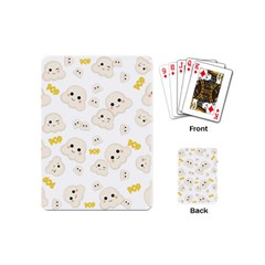 Cute Kawaii Popcorn Pattern Playing Cards (mini) by Valentinaart