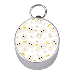 Cute Kawaii Popcorn Pattern Mini Silver Compasses