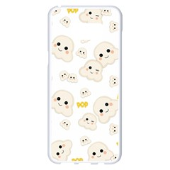 Cute Kawaii Popcorn Pattern Samsung Galaxy S8 Plus White Seamless Case by Valentinaart