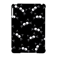 Cute Black Cat Pattern Apple Ipad Mini Hardshell Case (compatible With Smart Cover)