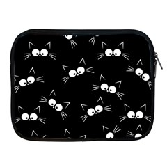 Cute Black Cat Pattern Apple Ipad 2/3/4 Zipper Cases