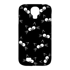 Cute Black Cat Pattern Samsung Galaxy S4 Classic Hardshell Case (pc+silicone)