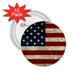 Vintage American Flag 2 25  Buttons (10 Pack)  by Valentinaart