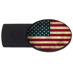 Vintage American Flag Usb Flash Drive Oval (2 Gb)