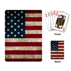 Vintage American Flag Playing Cards Single Design