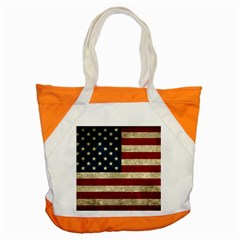 Vintage American Flag Accent Tote Bag