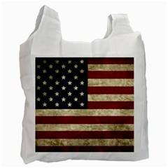 Vintage American Flag Recycle Bag (one Side) by Valentinaart