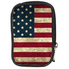 Vintage American Flag Compact Camera Leather Case