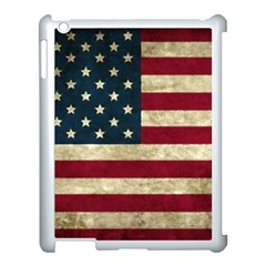 Vintage American Flag Apple Ipad 3/4 Case (white)