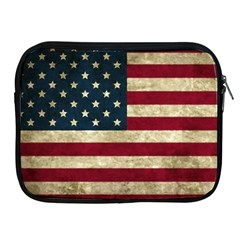 Vintage American Flag Apple Ipad 2/3/4 Zipper Cases by Valentinaart