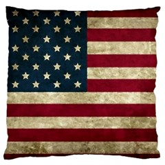 Vintage American Flag Large Flano Cushion Case (two Sides)