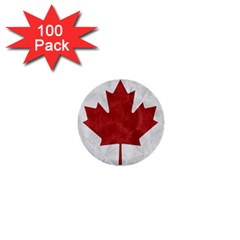 Canada Grunge Flag 1  Mini Buttons (100 Pack)