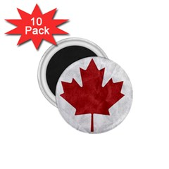 Canada Grunge Flag 1 75  Magnets (10 Pack)