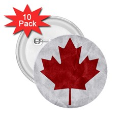 Canada Grunge Flag 2 25  Buttons (10 Pack)  by Valentinaart