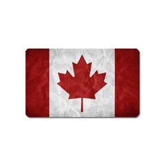 Canada Grunge Flag Magnet (name Card) by Valentinaart