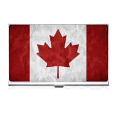 Canada Grunge Flag Business Card Holder