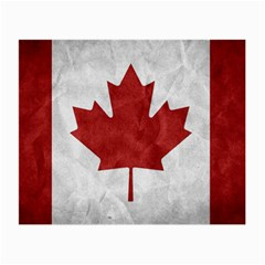 Canada Grunge Flag Small Glasses Cloth (2 Side)