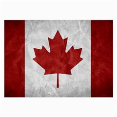 Canada Grunge Flag Large Glasses Cloth