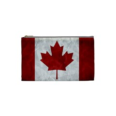Canada Grunge Flag Cosmetic Bag (small) by Valentinaart