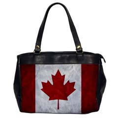 Canada Grunge Flag Oversize Office Handbag by Valentinaart