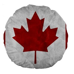 Canada Grunge Flag Large 18  Premium Round Cushions by Valentinaart