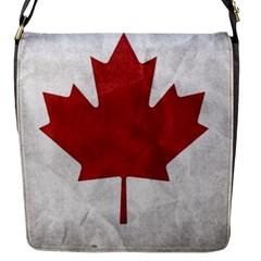 Canada Grunge Flag Flap Closure Messenger Bag (s)
