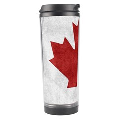 Canada Grunge Flag Travel Tumbler