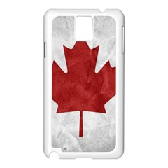 Canada Grunge Flag Samsung Galaxy Note 3 N9005 Case (white)
