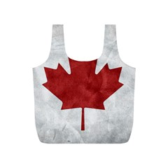 Canada Grunge Flag Full Print Recycle Bag (s) by Valentinaart