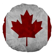Canada Grunge Flag Large 18  Premium Flano Round Cushions by Valentinaart
