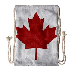 Canada Grunge Flag Drawstring Bag (large) by Valentinaart