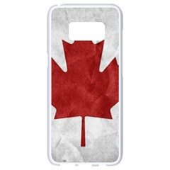 Canada Grunge Flag Samsung Galaxy S8 White Seamless Case by Valentinaart