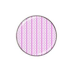 Circles Lines Light Pink White Pattern Hat Clip Ball Marker (10 Pack) by BrightVibesDesign