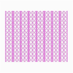 Circles Lines Light Pink White Pattern Small Glasses Cloth (2 Side)