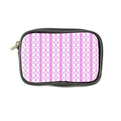 Circles Lines Light Pink White Pattern Coin Purse