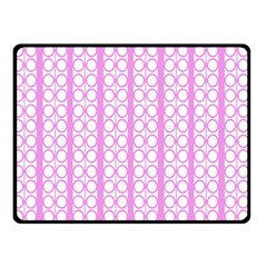 Circles Lines Light Pink White Pattern Double Sided Fleece Blanket (small)