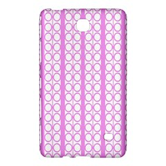 Circles Lines Light Pink White Pattern Samsung Galaxy Tab 4 (7 ) Hardshell Case