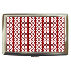 Circles Lines Red White Pattern Cigarette Money Case