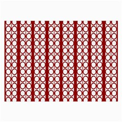 Circles Lines Red White Pattern Large Glasses Cloth by BrightVibesDesign