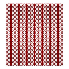 Circles Lines Red White Pattern Shower Curtain 66  X 72  (large)  by BrightVibesDesign