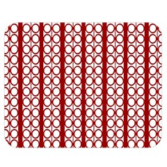 Circles Lines Red White Pattern Double Sided Flano Blanket (medium)
