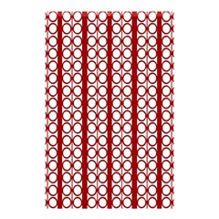 Circles Lines Red White Pattern Shower Curtain 48  X 72  (small)